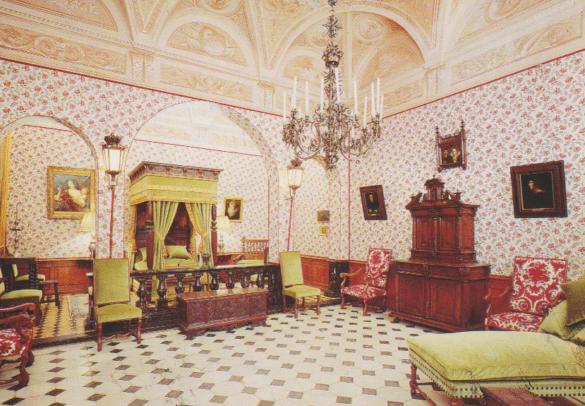 Dormitorio del Palacio del Príncipe estilo Luis XIII.