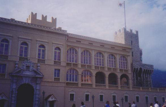 El Palacio del Principe de Mónaco.