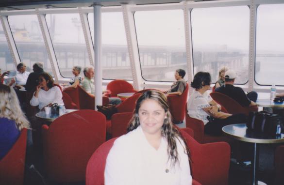 Ferry cruzando por el estrecho de Gibraltar.