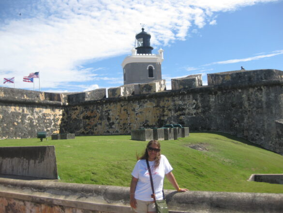 Paseando por El Castillo de San Felipe del Morro.